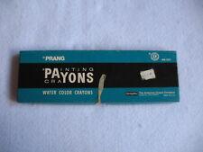 ViTg. 1960's Prang Payons Painting Crayons Water Color Crayons -12 Colors -Brush