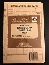 "Rite in the Rain All-Weather Range Card Loose Leaf, Tan, 4 5/8"" x 7"" *3 PACK*"