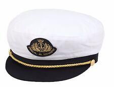 PAUL & SHARK YACHTING Mütze Hut Hat Kapitäns Mütze Cap Größe XL 59 cm Weiß White