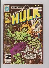 "1977 Marvel Heritage Editions French ""The Incredible Hulk"" Comic Book #82/83"