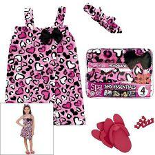 Cheetah Heart Spa Wrap Bath Robe Set - Size Small (5/6) NIP Girls Spa With Me