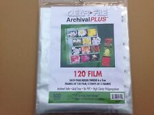 Clear File Negative Storage Pages For 120 Film.  Qty 50