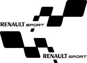 Renault Sport RS Flagge Aufkleber Clio, Megane, Twingo