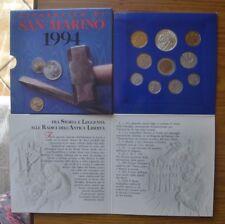 SERIE SAN MARINO 1994 CONFEZIONE MONETE FDC 1000 LIRE SILVER ARGENTO SUBALPINA