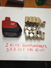 hilti , akku, batterie , bateria ,batery SFB 15,60 v 3Ah ( only 2 pack 13 cells)