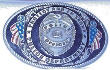 "Belt Buckle Police Officer Protect and Serve Police Department 3¾"" x 2½"""