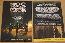 The Purge: Anarchy (2014) Frank Grillo - Polish promo FLYER