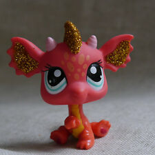 Orange Little Dragon Blue eyes  #2484 LITTLEST PET SHOP LPS mini Action Figure