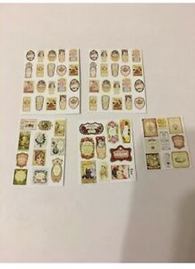 MIXED LOT OF PERFUME  LABELS   FOR A 1/12 SCALE DOLLS HOUSE