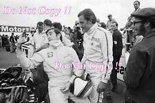 Graham Hill & Jackie Stewart BRM F1 retrato British Grand Prix 1967 fotografía