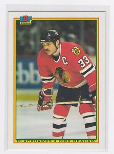1990 Topps - Bowman Hockey - Dirk Graham #8