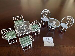 dollhouse miniatures lot 1:12, Wire Furniture, Vintage