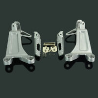 Silver Rear Passenger Foot Pegs Footrest Bracket For Honda CBR600RR 2003 2004
