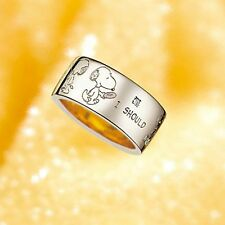 Snoopy Peanuts comic SV925 diamond ring gold part made in Japan #2