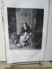 Vintage Print,THE KITTENS,Ladies Repository,c1857