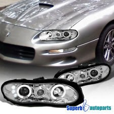 For 1998-2002 Chevy Camaro LED Halo Projector Headlights Head Lamps Replacement