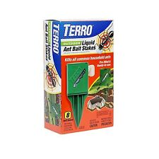 TERRO T1812 Outdoor Liquid Ant Killer Bait Stakes-8 Count 0.25 oz each (1 pack)*