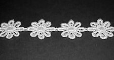 NEW......!! WHITE LARGE DAISY TRIM 20mm Wide