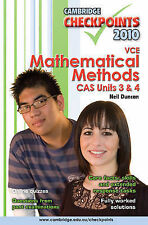 Cambridge Checkpoints VCE Mathematical Methods CAS Units 3 and 4 2010: 2010:...