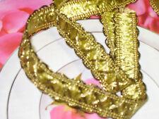 "5 yards 1/2"" width gimp and gold color braid trim for your fashion design decor"