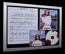 LANA DEL REY Video Games LIMITED CD MUSIC FRAMED DISPLAY+EXPRESS GLOBAL SHIPPING