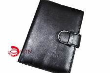 Black Faux Leather Passport Holder Mobile Phone iPhone Quality Travel Wallet