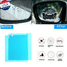 2x Car Anti Fog Film Rainproof Rear View Mirror Protective Scratch Stickers Trim