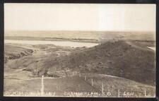 Rp Postcard Chamberlain Sd Missouri Valley Area Bird's Eye Aerial view 1930's