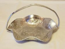 New listing Vintage Punched Aluminum Handled Serving Dish