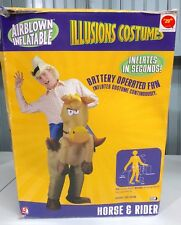 Horse & Rider Airblown Inflatables Halloween Costume Cowboy As Is