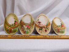 Lot Of 4 Victorian Die-Cut Easter Eggs D. M'Carthy & Co Church Birds People F42