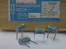 4x KBG-I --( 0.03uF 10%, 400V )-- Ceramic PIO Capacitors КБГ-И NOS Made in USSR