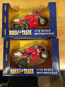 NEW Road and Track Maisto 1:18 Scale DUCATI 996 Motorcycle's Lots Of 2