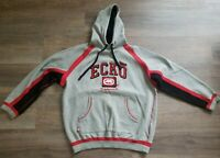 VINTAGE ECKO UNLIMITED WORLD FAMOUS RHINO BRAND HOODIE PULLOVER SIZE XL MEN GREY