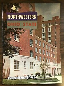 NORTHWESTERN OHIO STATE COLLEGE FOOTBALL PROGRAM 1963 VERY GOOD CONDITION