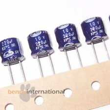 10x 220uf 10V 85°C ELECTROLYTIC CAPACITORS Short (10 Pack) - AUS STOCK