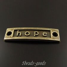 10 pcs Antiqued Bronze Alloy Rectangle Hope Word Connector Pendant Jewelry 38395