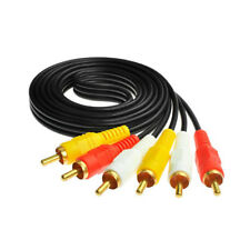 RCA Composite Cable AV Video Audio Wire M/M 6Ft 1.8M