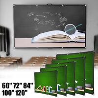 Foldable HD Projector Screen 16:9 Home Cinema Theater Projection Portable Screen