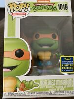 Funko Pop SDCC 2020 Comic Con TMNT Michelangelo With Surfboard Limited Edition