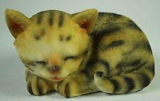 SLEEPING KITTEN FIGURINE Polyresin Cat Figure Statue NEW Animal Pet Feline Kitty