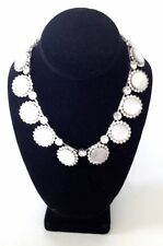 Of Pearl Rhinestones Circles Necklace Vintage 1950 Signed Alice Caviness Mother