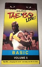 Tae Bo Live Basic Volume 5 VHS-TESTED-RARE VINTAGE COLLECTABLE-SHIPS N 24 HOURS