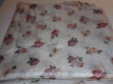 Vintage  J. C. Penney sheer Floral swag curtain