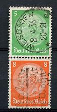 Germany Third Reich 1933, 5pf, 8pf Hindenburg Used Pair #A65873