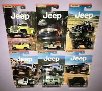 2019 MATCHBOX JEEP SERIES COMPLETE SET OF 6 DIE CAST **NEW RELEASE**