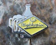Antique Ozujsko Pivo Croatia Lager Beer Brewery Zuja Advertising Pin Badge