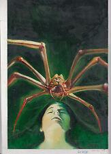 Originalzeichnung CASTRO John Sinclair 1259 Spinnenpest Titelbild Romanheft Horr