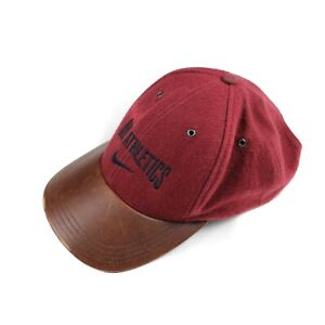 Nike Athletics Vintage 90s Red Brown Spell Out Adjustable Baseball Cap One Size
