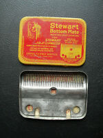 Vintage Stewart Bottom Plate for J1 & J2 Clipmaster in Tin Box